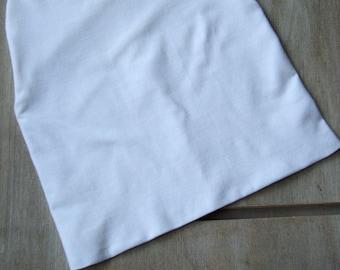 Cotton beanie Slouchy Handmade Spring Winter One size Boy Girl Women Cotton tricot hat White Comfort Soft Warm Eco friendly