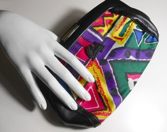 Neon Clutch/ Neon Purse/ Neon Bag/ 90s Purse/ Fresh Prince/ Basquiat/ In Living Color/ 90s Club Kid/ Pop Art Bag/ 90s Bag/ Geo Print