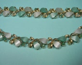 Coro Pegasus Green Jewelry Set, Vintage 60s Thermoset