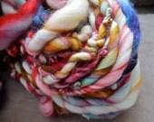 SALE! Super bulky handspun yarn superwash Merino wool single ply