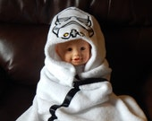 Infant Space Trooper Hooded Towel with 2 burp cloths and 2 washcloths - Free Personalization