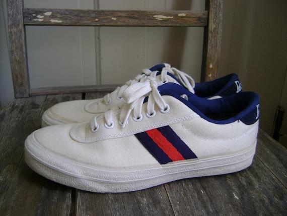 vintage 1980s bancroft striped tennis shoes size 7