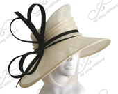 Sinamay Hat with Signature Ribbon Bow