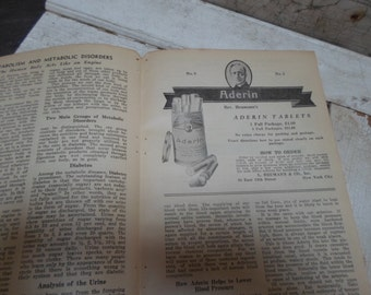Pharmacy, Apothecary, Advertising, Quack Medicine, Vintage Ephemera, Medical Book, Antique Paper, Advertisement, Science, 1930s, Authentic