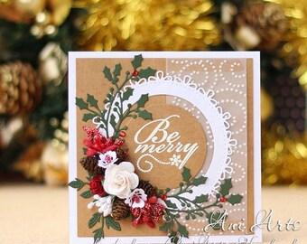 Christmas cards Custom Holiday card Handmade Greeting card Unique Kraft paper Christmas Card