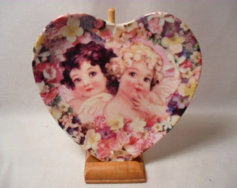 Faith and Charity Plate by Thoma L Cathey from The Heavenly Hearts Collection