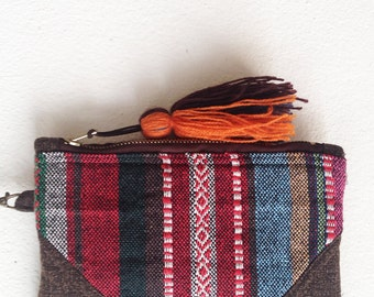 Handmade Tribal Clutch Cotton Wristlet