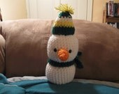 Happy Birthday Snowman pattern PDF file