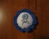 Mini Blue Pin Cushion pattern PDF File