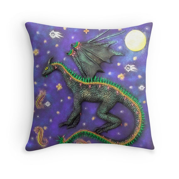 Dragon pillowcase dragon cushion dragon home decor for - Dragon decorations for a home ...