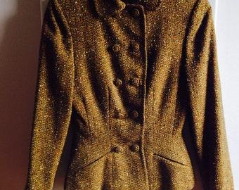 Womens Vintage 2Pc. Wool Tweed Suit