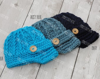 Baby boy hat, newborn boy hat, baby newsboy hat, newborn newsboy hat, newsboy outfit, coming home outfit, newborn boy clothes, blue newsboy