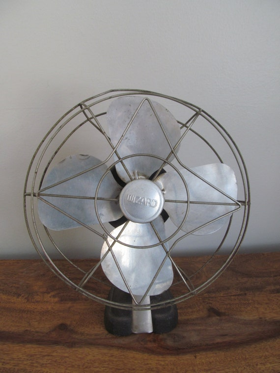 Best Table Top Fan : Vintage wizard table top small fan