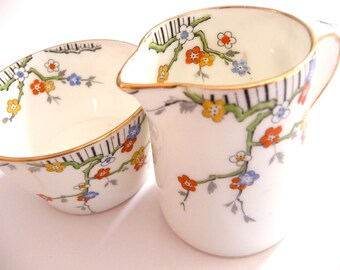 Royal Paragon Fine Bone China Creamer and Sugar Bowl