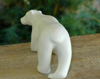Porcelain Polar Bear sculpture hand made by MudPups