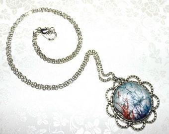 Fractal Splash Marble Necklace
