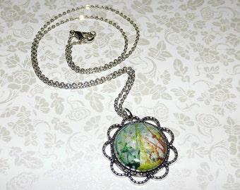 Scenic Splatter Marble Necklace
