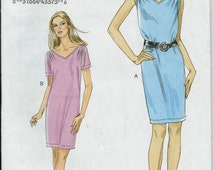 Vogue 8647 Misses Pullover Dress Pattern, Size 16-24 UNCUT