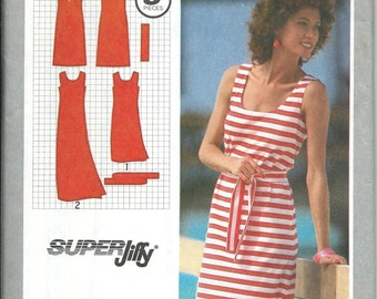Simplicity 9522 Misses Jiffy Pullover Tank  Dress Pattern, Availabe Sizes, 6-8, 10, 14 & 16 UNCUT