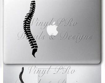 Chiropractor Spine Adjustment Subluxation Vertebrae Anatomy Nervous System Chiropractic Combo Decal for Macbook