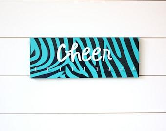 Cheer Medal Holder - Zebra Print - Medium