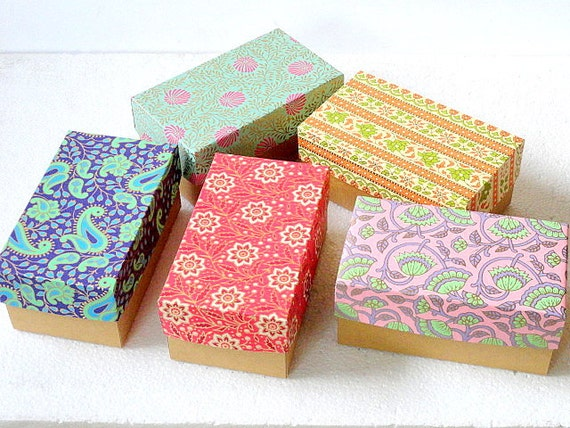 Indian prints 7 4 3 inch Gift box, Packaging box,wedding favor box ...