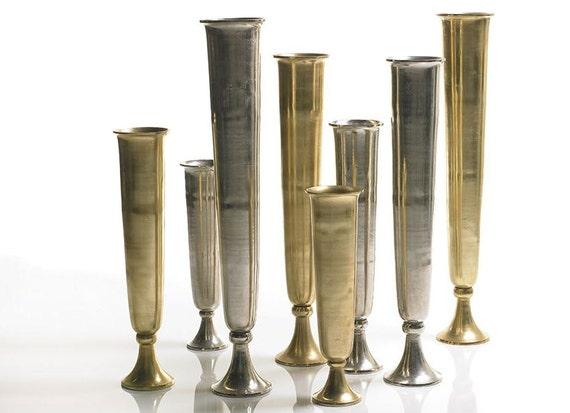 Items similar to extra tall metal milan gold trumpet