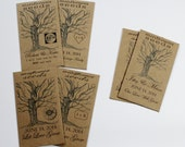 Rustic Wedding Favors, Wedding Kraft Paper Brown Seed Packet Favors Customized and Personalized  Envelopes 1- 5 Sets