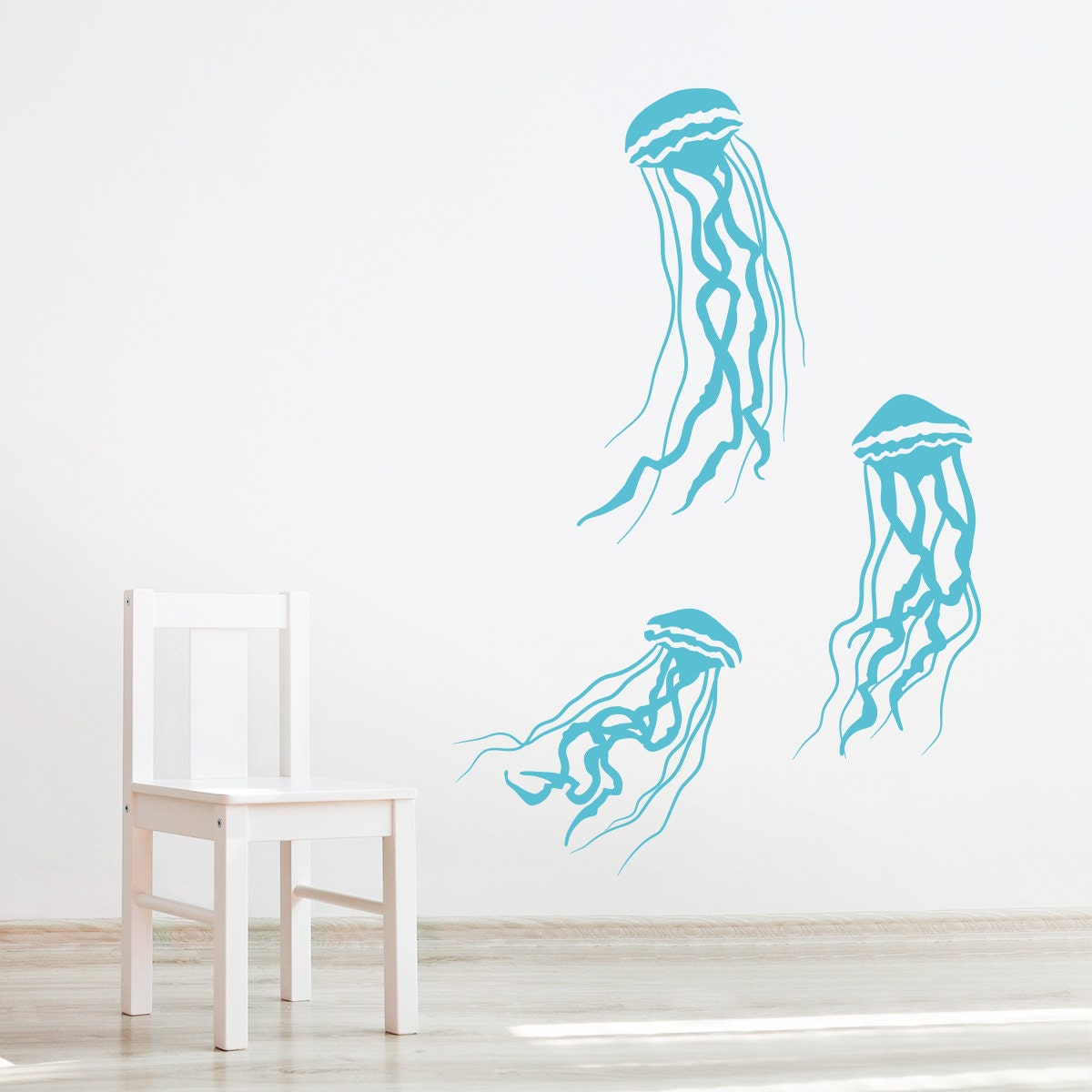 Jelly Fish Wall Decal Underwater Decal Ocean Decal Nursery