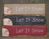 "6"" Snowman Block Winter Decor"