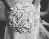 Wedding Bouquet, Sola wood Bouquet, Ivory Silver Bouquet, Alternative Bouquet, Bouquet, Sola flowers, Wood Bouquet