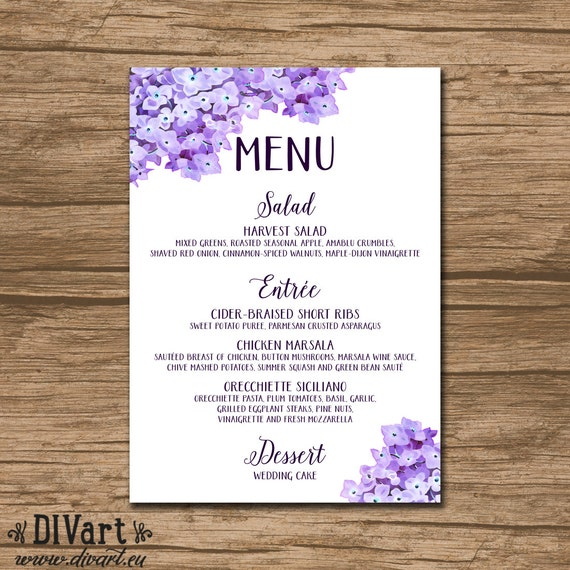 rustic wedding menu bridal shower menu baby shower menu barn