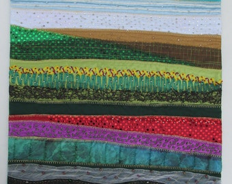 Bab's Gulf Sunset wall quilt