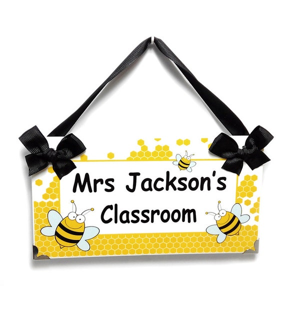 Personalized Bumble Bees Theme Teacher Classroom Decor Honey