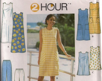 Simplicity Sewing Pattern 8207 - Misses' Dress/Tunic and Pants/Shorts (6-10, 12-16)