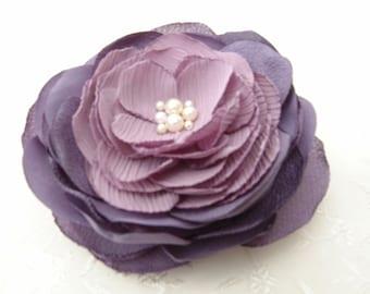 Lilac Flower Clip- Hair Fascinator Bridal Headpiece Wedding Hair Flower Accessories Bridesmaid Gift Floral Clip Bridal Hair Accessory Brooch