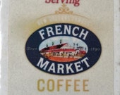 French Market Coffee New Orleans Coaster