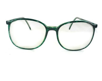 1980s Green Glasses or Eyegrasses Frames