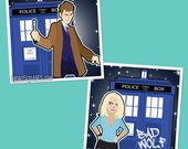 Tenth Doctor and Rose Square Prints