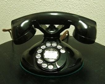 Antique 1930's Stromberg Carlson Black Bakelite Telephone