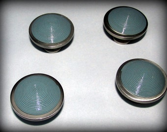 Cabinet/Drawer Pulls/ Soft Teal in Polymer Clay