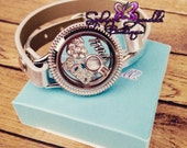 Customized Floating Locket Wrap Bracelet- Also includes Charms of your choice