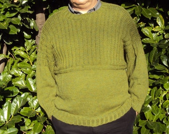 Guernsey Handmade Traditional Fishermans Jumper in Aran weight yarn Made to order - choice of colours designed by studorajka
