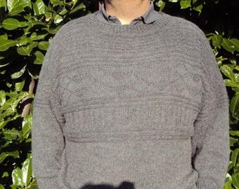 Knitting Pattern for  Traditional  Gansey  Fishermans Jumper.  Mens Jumper Tutorial. Guernsey Pattern PDF . Mens Sweater Pattern.