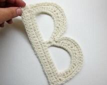 """1pc 8"""" Giant Crochet  ALPHABET Applique, Large Letter, Giant Font, Crochet Monogram"""