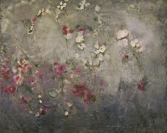 Rustic Botanical encaustic painting (2.7)