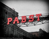 Pabst Brewery - Milwaukee Art Photography Print - neon sign photo