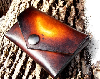 Front Pocket Wallet Card Wallet Simple Wallet, Men's Leather Wallet, Minimal Leather Wallet, Heavy Duty Leather Wallet