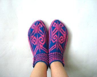 knitted slippers, womens girls slippers knit Slippers, Turkish Slippers Socks, home shoes, womans christmas gifts