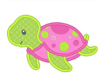 Sea Turtle Applique Embroidery Design- Instant Download